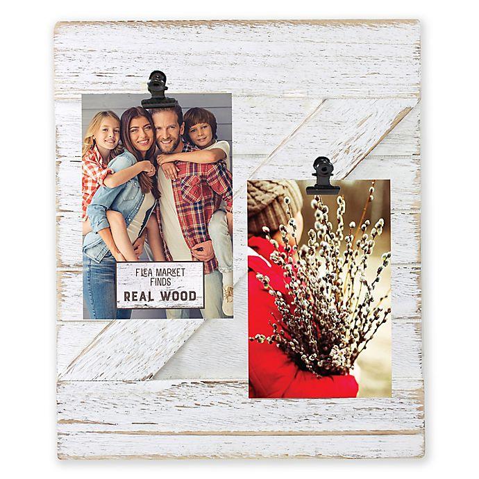Alternate image 1 for Fetco Home Décor™ Farmhouse 2-Clip Collage Frame in Whitewash