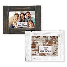 Fetco Home Décor™ Farmhouse 4-Inch x 6-Inch Rustic Wood Frame