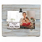Fetco Home Décor™ Farmhouse Pallet Clip Frame in Rustic Grey