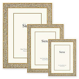 Siena Cast Metal Frame with Enamel Finish and Glitter Gold Border
