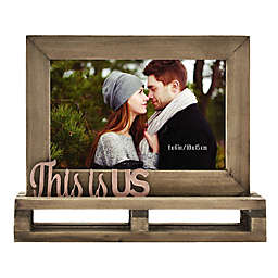 """""""This is Us"""" Decorative Wood and Metal Frame"""