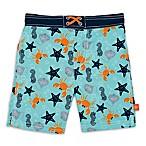 Lassig™ Size 12M Starfish Board Shorts in Blue/Grey