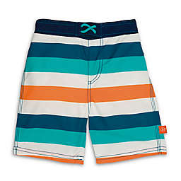 Lassig™ Stripe Board Shorts in Blue/Orange