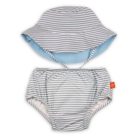 ee179d3ec1 Lassig™ 2-Piece Submarine Swim Diaper and Reversible Hat Set in Grey |  buybuy BABY