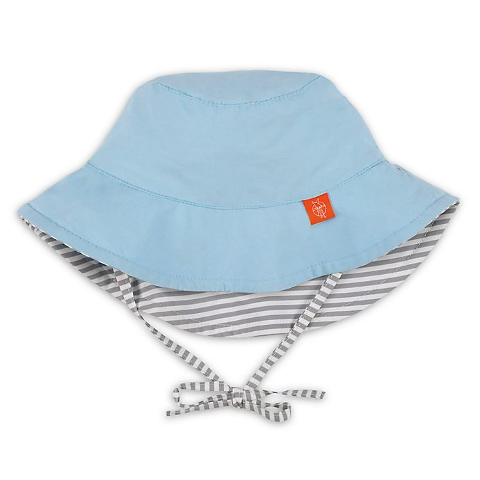 Alternate image 1 for Lassig™ Reversible Sun Protection Stripe Bucket Hat in Blue/Grey