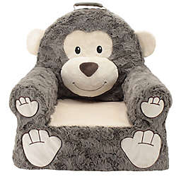 Sweet Seats Plush Monkey Chair In Brown