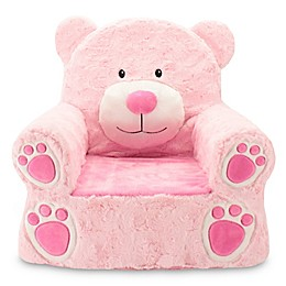 Sweet Seats® Plush Bear Chair in Pink