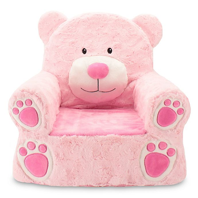 Alternate image 1 for Sweet Seats® Plush Bear Chair in Pink