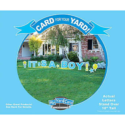 "Stake A Statement®  ""It's a Boy"" Yard Card in Blue"