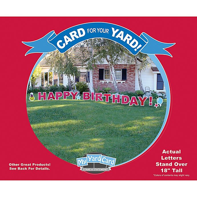 Stake A StatementR Happy Birthday Yard Card In Red