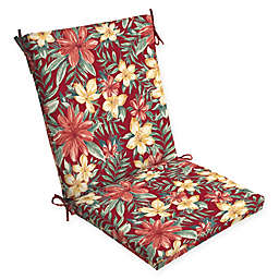 Arden Selections  Clarissa Outdoor Chair Cushion in Red