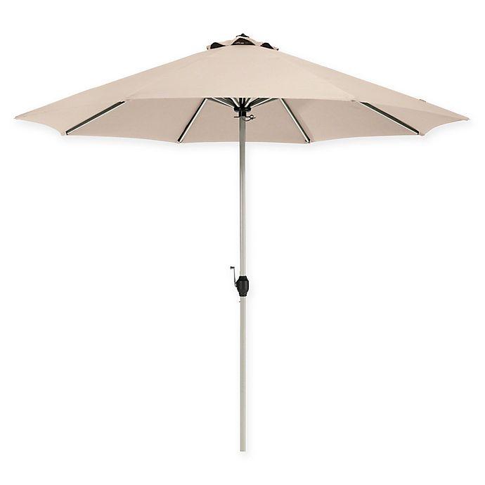 Alternate image 1 for Classic Accessories®  Market 9-Foot Round Umbrella in Beige