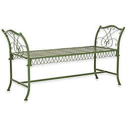 Safavieh Arona Wrought Iron Outdoor Garden Bench