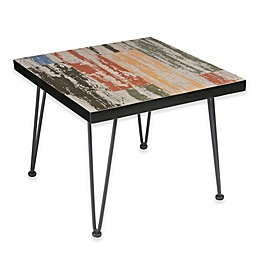 INK+IVY Austin Square Outdoor End Table in Dark Bronze