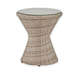 INK+IVY Kelsey Round Outdoor All-Weather End Table in Sand