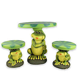 3-Piece Plastic Frog with Lily Pad Table and Chair Set