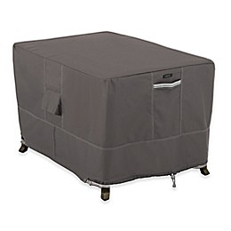 Classic Accessories® Ravenna Polyester Rectangle Fire Pit Table Cover in Taupe