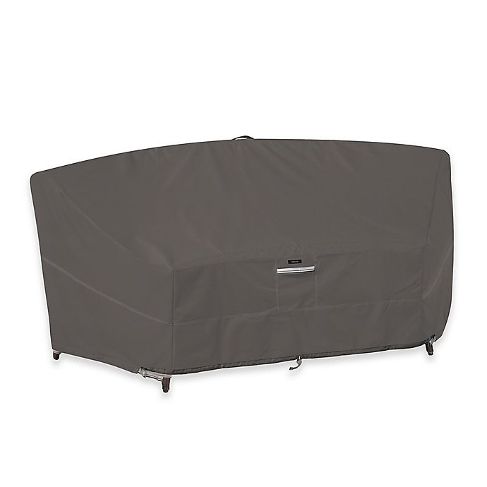 Alternate image 1 for Classic Accessories Ravenna Patio Curved Modular Sofa Sectional Cover