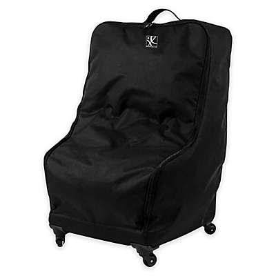 J.L. Childress Deluxe Car Seat Travel Wheelie Bag in Black
