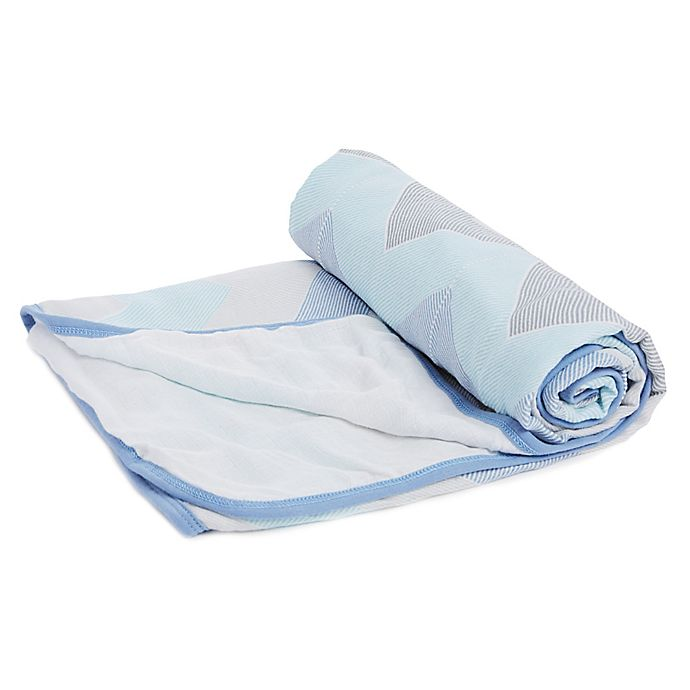 Alternate image 1 for aden® by aden + anais® Silky Soft Stroller Blanket in Blue
