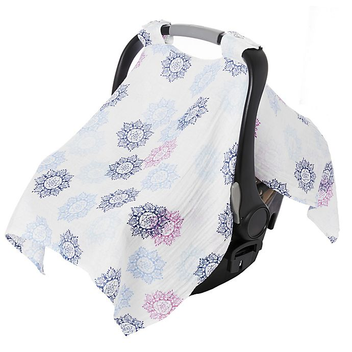 Alternate image 1 for aden + anais™ essentials Car Seat Canopy in Pretty Pink