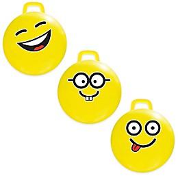 MegaFun USA Emoji Hop Hop Jumping Ball in Yellow