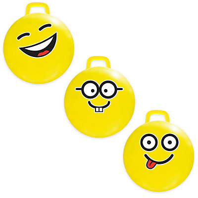 MegaFun USA Emoji Hop Hop Jumping Ball in Yellow