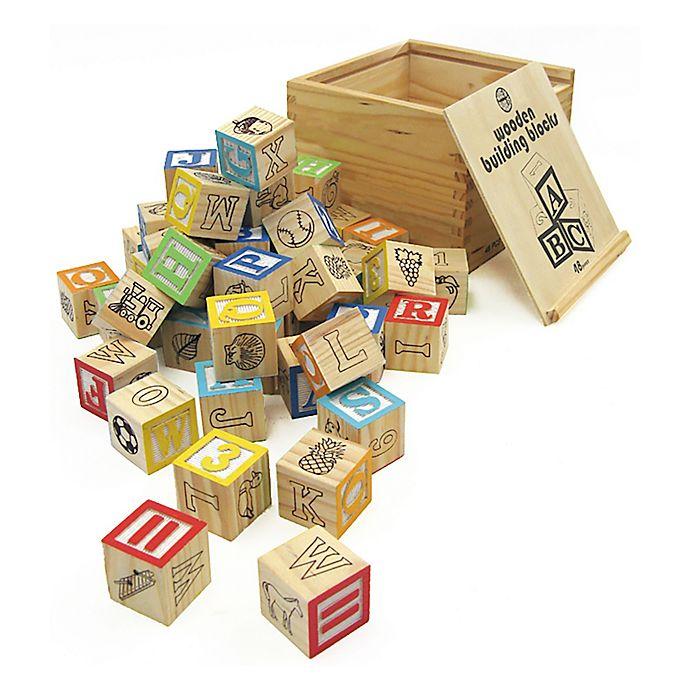 Alternate image 1 for House of Marbles TiddlyTops Wooden Building Blocks