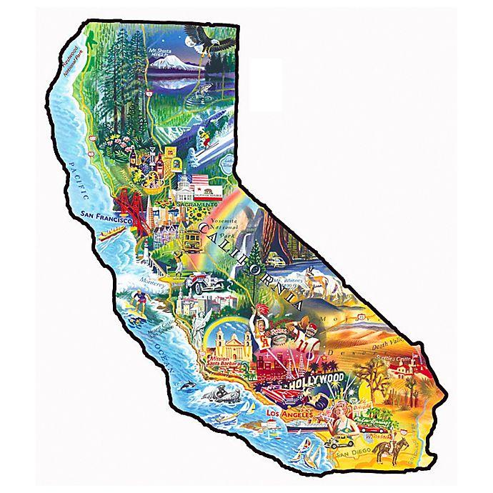 Aquarius Puzzles Subway Map.Sunsout 1000 Piece Sun Fun California Shaped Jigsaw Puzzle Bed