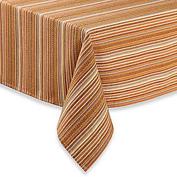 Sam Hedaya Avery Stripe Tablecloth in Spice