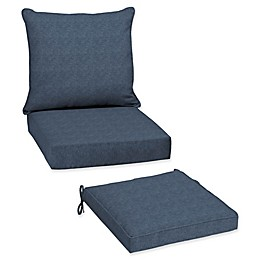 Arden Selections  Denim Alair Blue Patio Furniture Cushions