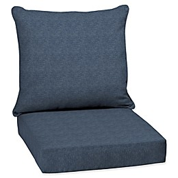 Arden Selections  Denim Alair Blue Welted 2-Piece Deep Seat Cushion Set