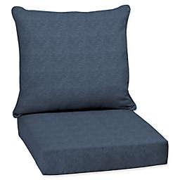 Arden Selections  Denim Alair Blue Welted 2-Piece Deep Seat Cushion Set