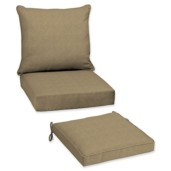 Arden Selections Tan Hamilton Beige Patio Furniture Cushions Bed