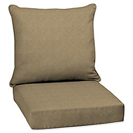 Arden Selections  Tan Hamilton Beige Welted 2-Piece Deep Seat Cushion Set