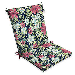 Arden Selections  Clarissa Floral Multicolor Outdoor Clean Chair Cushion