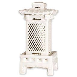Emissary 24-Inch Square Lantern in White