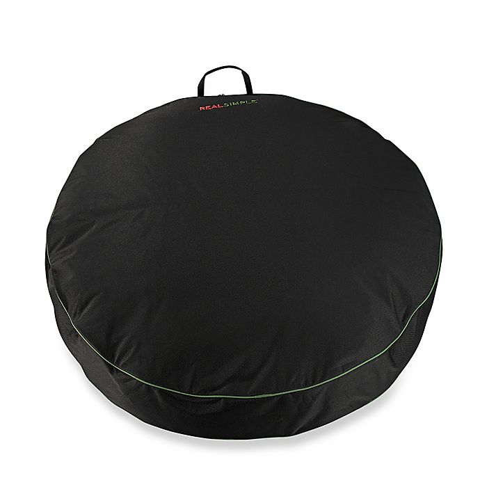 Alternate image 1 for Real Simple® Holiday Wreath Storage Bag in Black