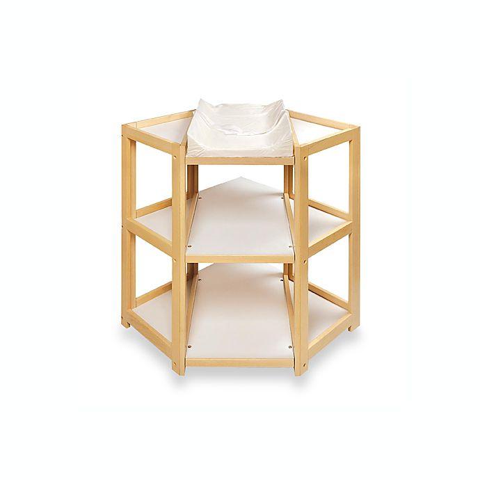 Alternate image 1 for Badger Basket Corner Unit Changing Table in Natural