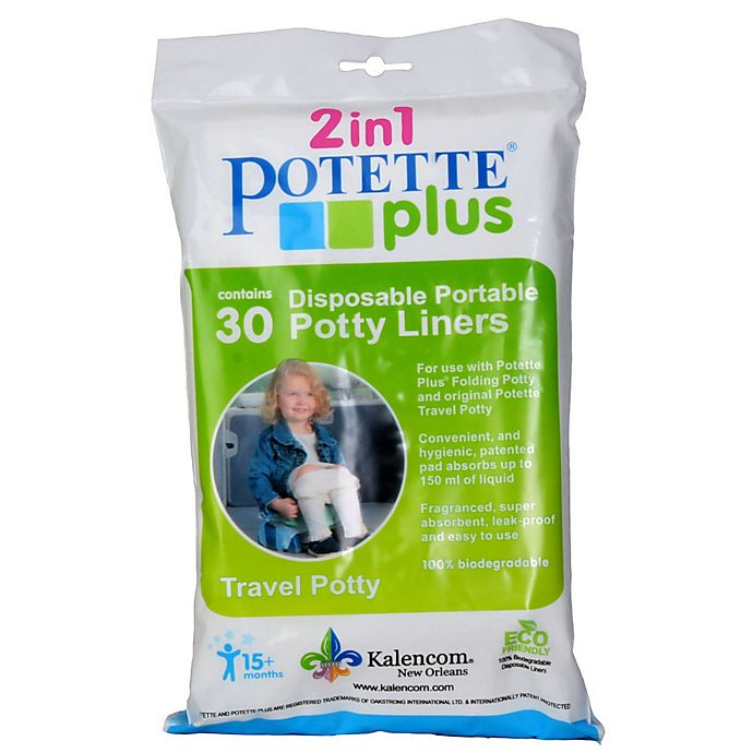 Alternate image 1 for Potette® Plus 30-Pack Trainer Seat Liner Refills in Neutral