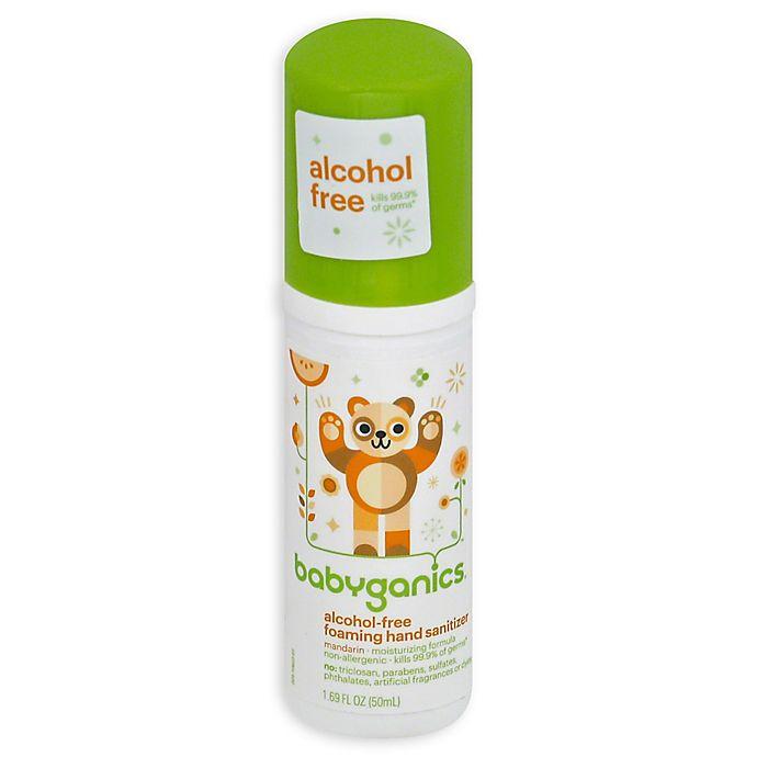 Alternate image 1 for Babyganics® 1.69 oz. On-the-Go Alcohol-Free Foaming Hand Sanitizer in Mandarin