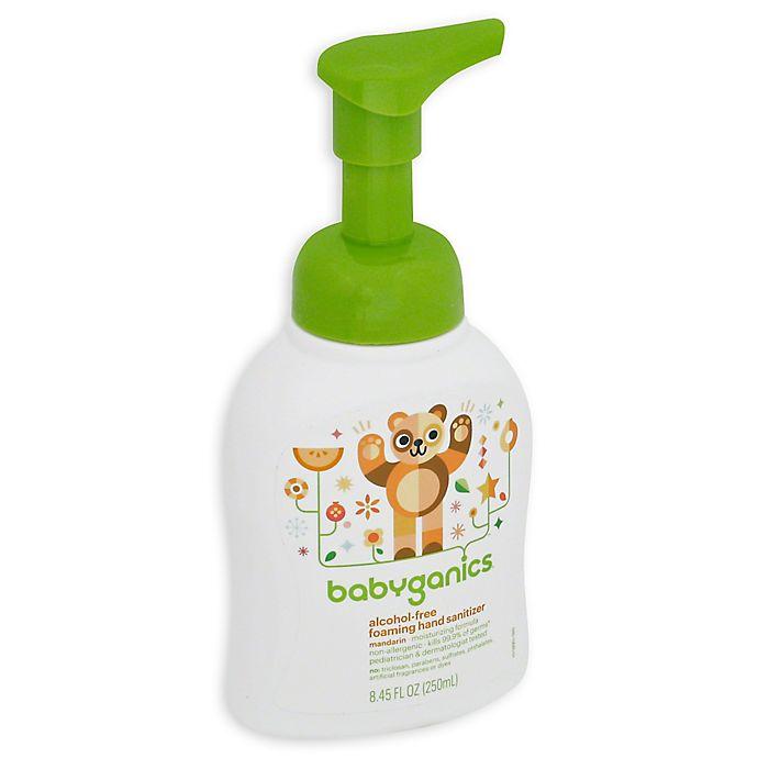 Alternate image 1 for Babyganics®  8.45 oz. Alcohol-Free Foaming Hand Sanitizer in Mandarin