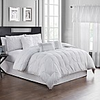 Pom Pom 7-Piece King Comforter Set in White