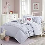 Julissa Full/Queen Comforter Set in Grey