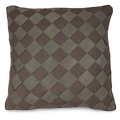 Joseph Abboud Environments Newton Herringbone Square Throw Pillow in Mocha