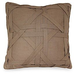 Joseph Abboud Environments Newton Lattice Work Square Throw Pillow in Mocha