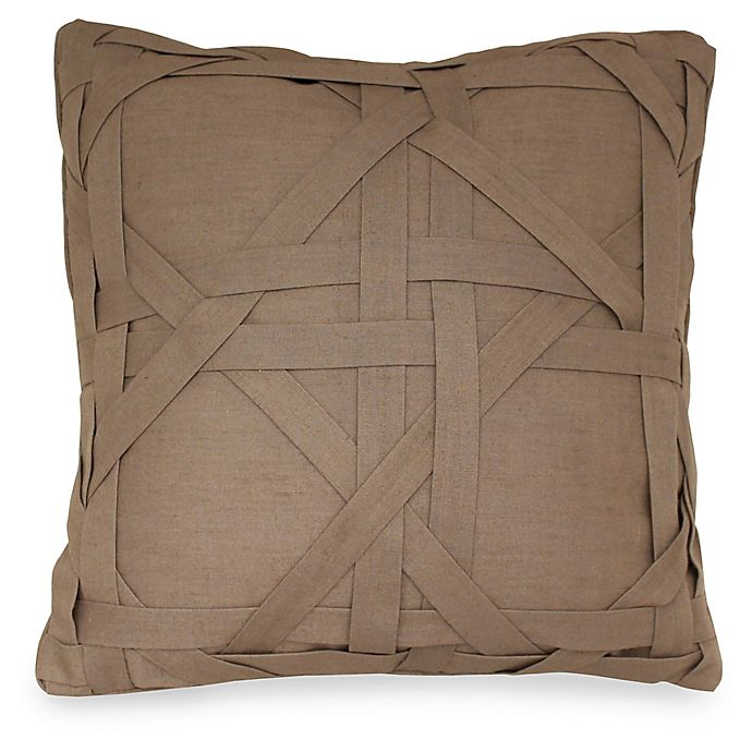Alternate image 1 for Joseph Abboud Environments Newton Lattice Work Square Throw Pillow in Mocha