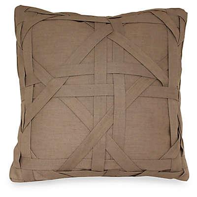 Joseph Abboud Environments Newton Lattice Work Square Throw Pillow in Mocha