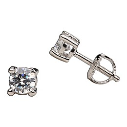 Cherished Moments Sterling Silver Crystal Earrings with Screw Backs