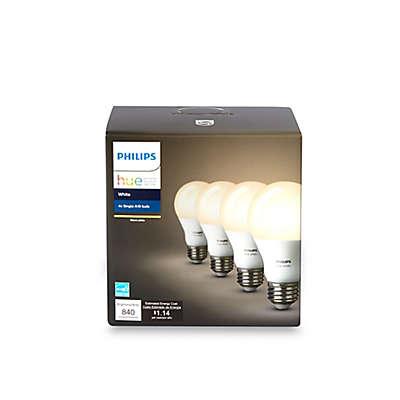 Philips Hue 4-Pack 60-Watt Equivalent A19 Smart LED Light Bulbs